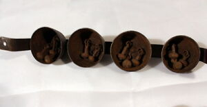 Vintage Wagon Bells with Belt Loop & cast iron bells w/Clappers Stratford Kitchener Area image 5
