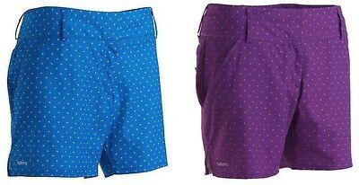 New Adidas Ladies Adizero Ligoni Solar Blue And Vivid Purple Golf Shorts