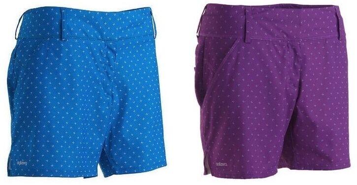 Adidas Ladies Adizero Ligoni Golf Shorts Solar Blue and Vivi