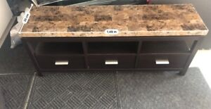 Granite Top Storage Dresser with Drawers