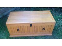 Wooden storage trunk chest ottomans toy box