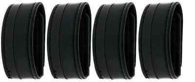 New! Bianchi Accumold Elite Belt Keepers 4-Pack Plain Black Hidden Snap 22090