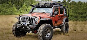 Jeep Accessories/Lift Kits/Bumpers/Tops/Fender Flares/Intakes.