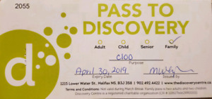 Family Pass to the Discovery Center  2 Adults, 2 Children