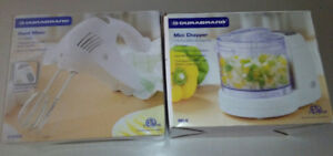 Electric cake hand mixer beater and mini chopper food processor
