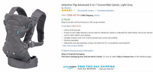 Infantino Flip Advanced 4-in-1 Convertible Carrier (New)