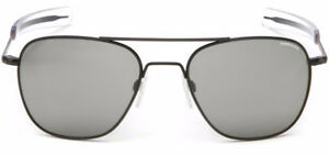 Randolph Aviator AF82663 Square Sunglasses Matte Black 58MM