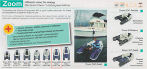 Inflatable tender ZODIAC ZOOM 260 SOLID New, for sale