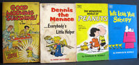 LOT 4 COMICS PAPERBACK BOOKS PEANUTS WE LOVE YOU SNOOPY 1962 EXC