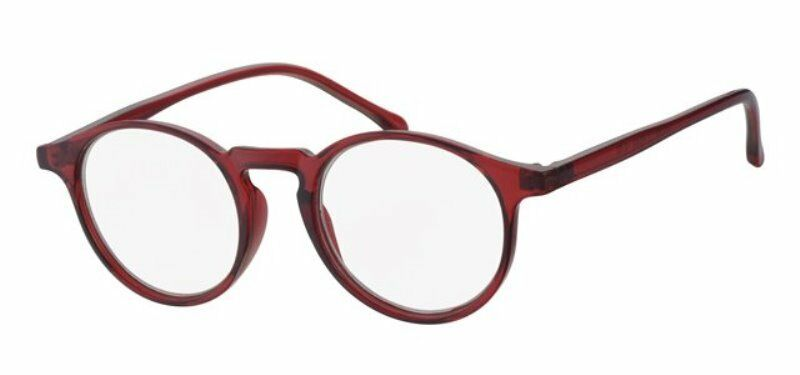 Moderne Lesebrille rot für Damen & Herren Lesehilfe Fertigbrille Sehhilfe