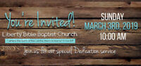 Church dedication service