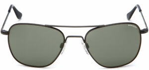 Randolph Aviator AF52414 Square Sunglasses Matte Black 55MM