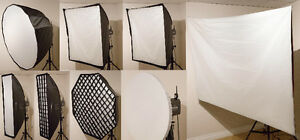 Trépied objectif canon mm nikon manfrotto studio photo softbox