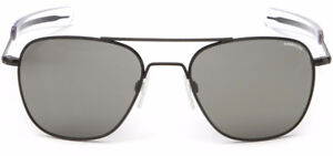 Randolph Aviator AF82611 Square Sunglasses Matte Black 58MM