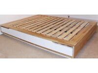 Ikea Mandal double bed frame with storage