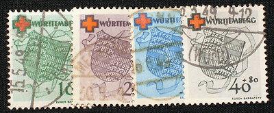 Französische Zone Württemberg Nr. 40-43  gestempelt