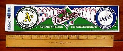 1988 Oakland A's vs Los Angeles Dodgers MLB World Series Vin