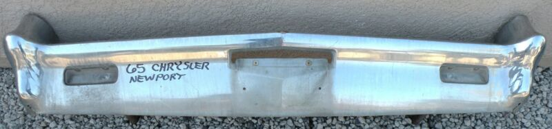 X Chrysler Newport New Yorker New Triple Plated Chrome Front Bumper 1965 65 Oem