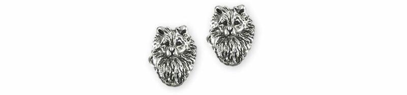 Keeshond Jewelry Sterling Silver Handmade Keeshond Earrings  KSH1H-E