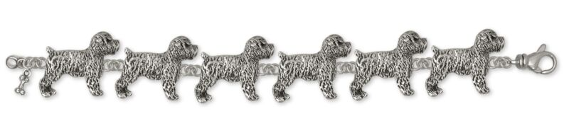 Soft Coated Wheaten Bracelet Jewelry Sterling Silver Handmade Dog Bracelet SCW7-