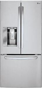 "LG LFXS24623S 33"" French Door Refrigerator With Water And Ice, 24.2 cu.ft. Ultra-Capacity"