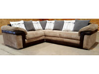 Corner Sofa - Brown/Grey. Can deliver