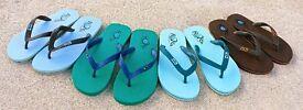 Bulk Wholesale Business Flip Flops (ROKS Cornwall ) 50 / 100 / 1200 pairs + Logo Hangers CLEARANCE!
