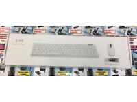 Wireless iMac MacBook PC Desktop Keyboard & Mouse White & Black colour Available