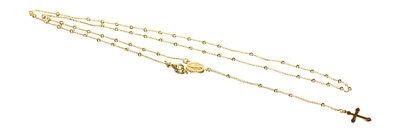 Massiver feiner Rosenkranz Silber 925 vergoldet Silberkette Rosario Kette Gold