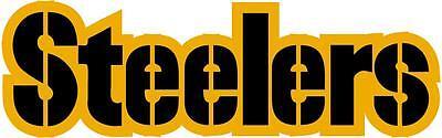 PITTSBURGH STEELERS 2 Color Logo Car Window WALL DECAL * Vinyl Car STICKER
