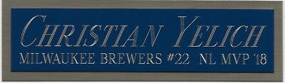 CHRISTIAN YELICH BREWERS NAMEPLATE AUTOGRAPHED SIGNED BASEBALL-BAT-JERSEY-PHOTO