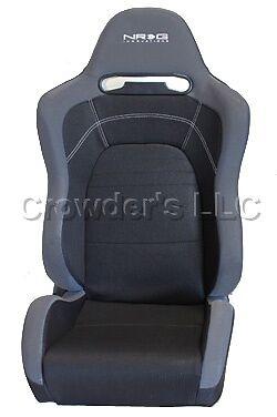 Nrg Evo Style Cloth Sport Seat W/o Logo Black (left And Right)