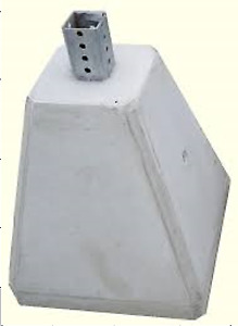 Concrete Bases for Sign Posts - Blow Out Prices