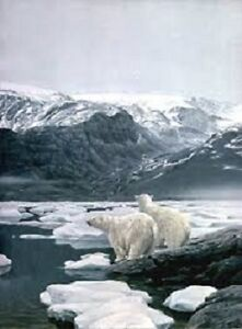Polar Bears at Baffin Island by Robert Bateman