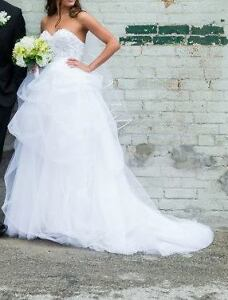 Watters designer wedding dress-size 2, adjustable corset