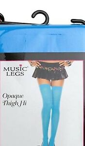Thigh High stockings Blue Black and Purple 3 Pairs