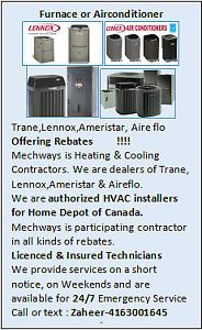 Furnace,Airconditioner,Trane,Lennox,Ameristar,Rebates