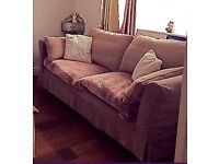 Large 3/4 seater sofa in beige for quick sale