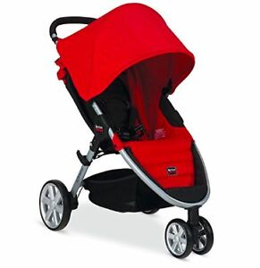 Britax 2014 B-Agile Stroller, Red+Child Tray
