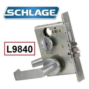 NEW SCHLAGE STOREROOM LOCK SET - 130301795 - MORTISE KEYED ENTRY DOOR LEVER SET WITH DEADBOLT