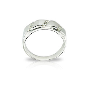 Men's 14k White Gold and Diamond  Ring - Appraised at $1900