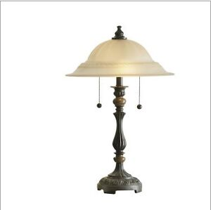 JCPenney Home Frosted Glass Table Lamp Windsor Region Ontario image 2