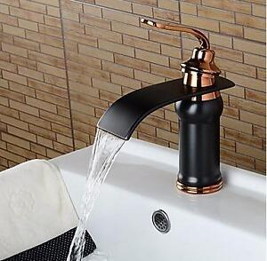 Black Gold Bathroom Sink Faucet Oil-rubbed Bronze Finish -  Single Handle