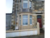 One bedroom, part furnished ground floor flat to let.