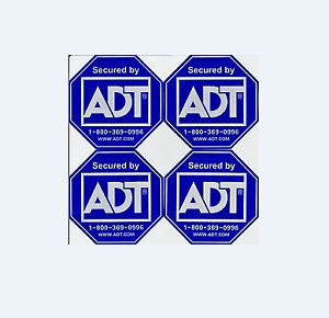 ADT security stickers x 8