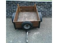 Car trailer with spare wheel
