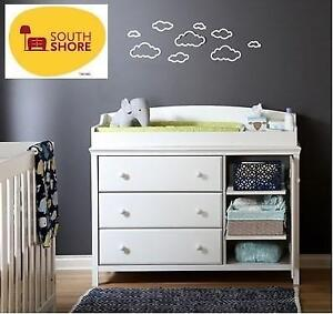 NEW SOUTH SHORE BABY CHANGING TABLE 11388 232342868 DRESSER WHITE