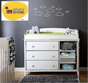 *new* South Shore Cotton Candy Changing Table - White