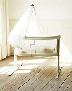 Baby Bjorn cradle / basinet + canopy, 2x fitted sheets, 3x protectors Hughesdale Monash Area Preview