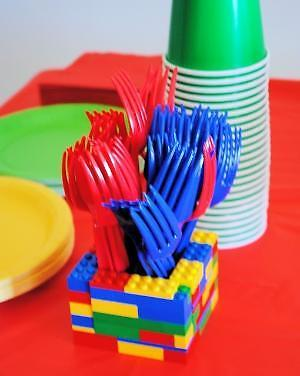 Lego Party Utensil and Napkin Holders